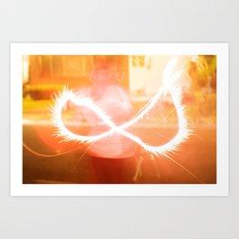 Firework Infinity Art Print