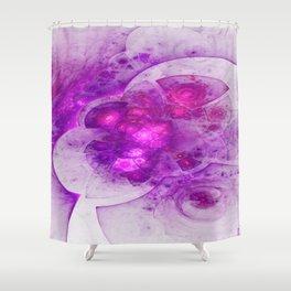 Crystal Gazing Flame Fractal Shower Curtain