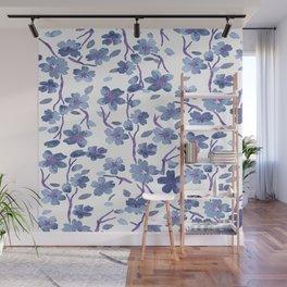 Blue Flowers 4 Wall Mural