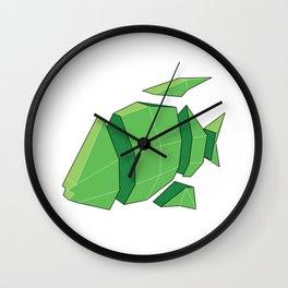 Illustration of a 3D Paper Craft Fish Model Wall Clock