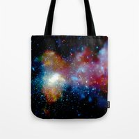 milky way Tote Bags featuring Milky Way by Upperleft Studios
