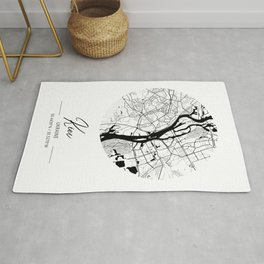 Kiev Area City Map, Kiev Circle City Maps Print, Kiev Black Water City Maps Rug
