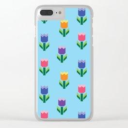 Tulip Print Clear iPhone Case