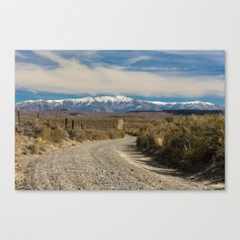 A Gravel Road to Heaven Canvas Print