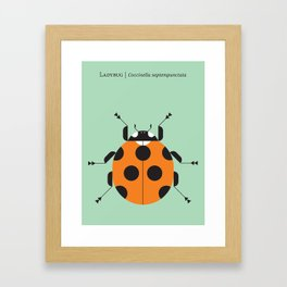 Lady Bug Green Framed Art Print