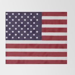 American flag with painterly treatment Throw Blanket
