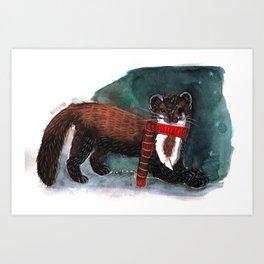 Marten in Winter Art Print