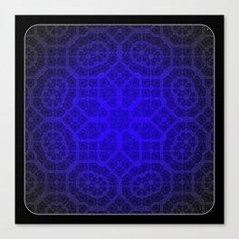 Blue Octogon Star Canvas Print