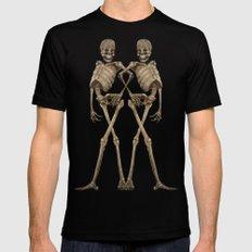 walking skeleton beauties Mens Fitted Tee Black SMALL