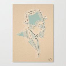 Oneline Monk 2 Canvas Print