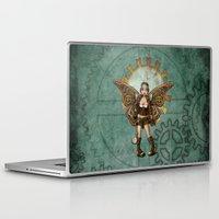 steam punk Laptop & iPad Skins featuring Steam Punk Pilot Faery by Hafapea