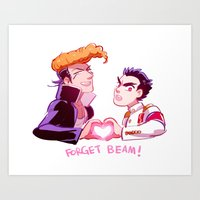 dangan ronpa Art Prints featuring Forget Forget by Blue