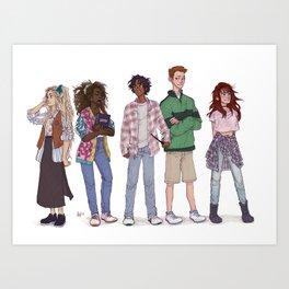 only 90's kids Art Print