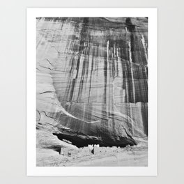 White House Ruins in Black & White Art Print