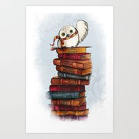 hedwig Art Prints featuring Hedwig by Sam Skyler