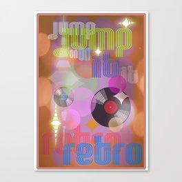 Jump On Retro Canvas Print