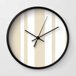Mixed Vertical Stripes - White and Pearl Brown Wall Clock