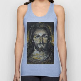 I am the light of the world. (Faustina's Vision) Unisex Tank Top