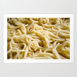 Noodles pattern Art Print