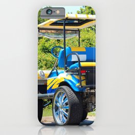 Two Tone Golf Cart iPhone Case