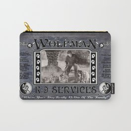 Wolfman K-9 Services Metal Sign Carry-All Pouch