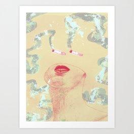 Delicious Cigarettes Art Print