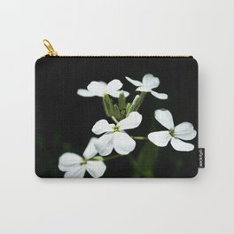 Little White Flowers Carry-All Pouch