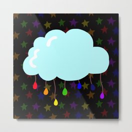 I wish it could rain colors Metal Print