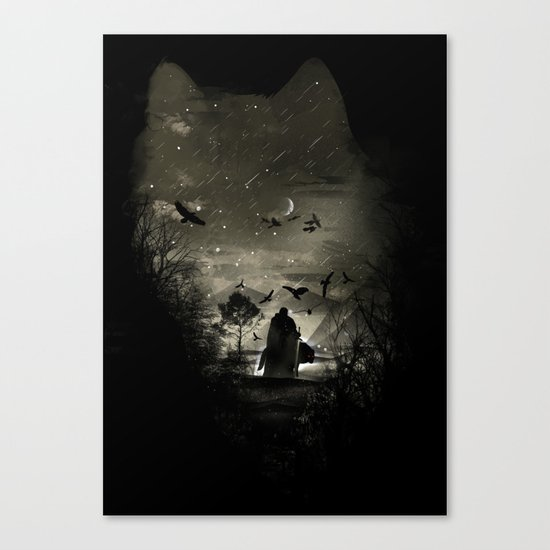 The Lord Crow Canvas Print