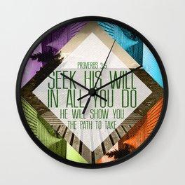 Seek His Will Wall Clock