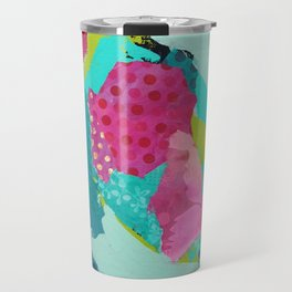 Tidal Pool Mixed Media Collage Travel Mug