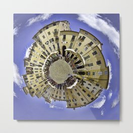 Little Worlds. Town Square Metal Print