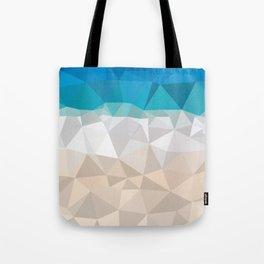 Low poly beach Tote Bag