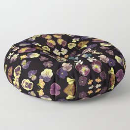 Dark Pansies Floor Pillow