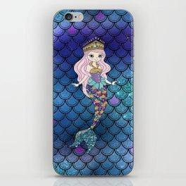 Princess of Sea   Glitter Mermaid iPhone Skin