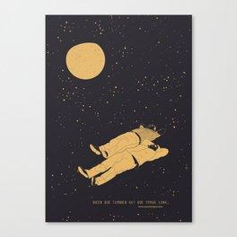 Tomar luna Canvas Print