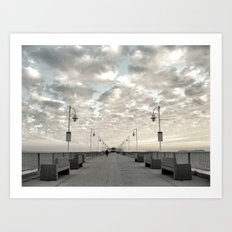 Pier Break Art Print
