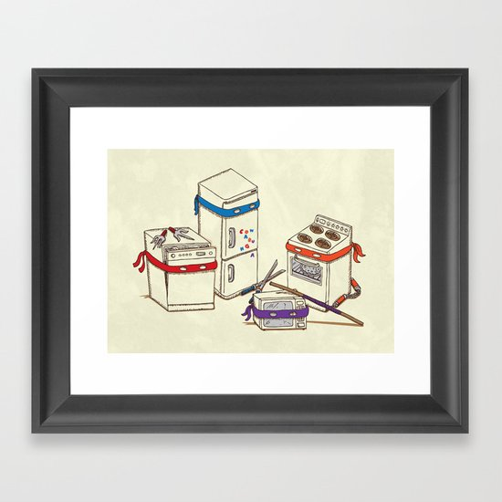 Teenage Mutant Ninja Kitchen Appliances Framed Art Print