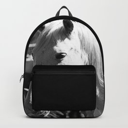White Horse-B&W Backpack