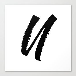 Letter U Ink Monogram Canvas Print