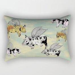 Pigs on the wing Rectangular Pillow
