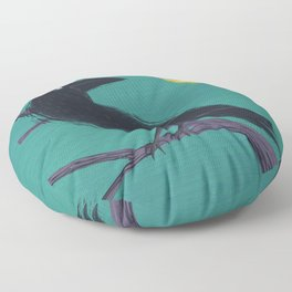 Restless Raven Once Upon A Midnight Dreary Floor Pillow