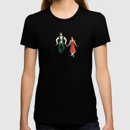 Art Deco Charleston Dancers Pattern T-shirt