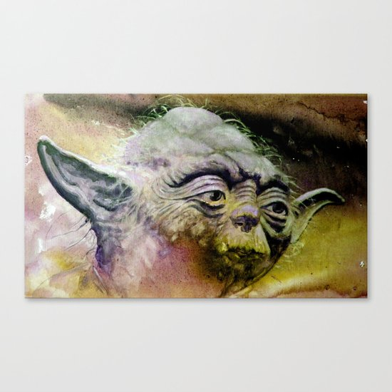 YODA - portrait Canvas Print