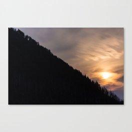Smokey Moonrise over the Lost Coast Canvas Print