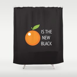 The New Black Shower Curtain