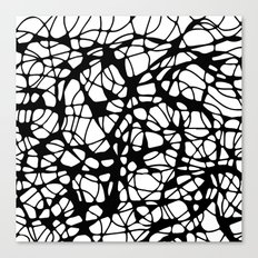 black curves Canvas Print