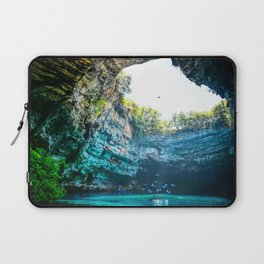 Sea Cave in Greece Laptop Sleeve