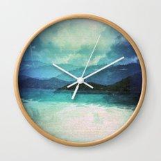 Tropical Island Multiple Exposure Wall Clock