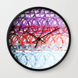 Bicycles palette Wall Clock